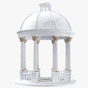 3D White Marble Gazebo model