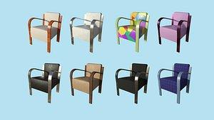 3D model 08 Textures Armchair Collection - Furniture Interior Design