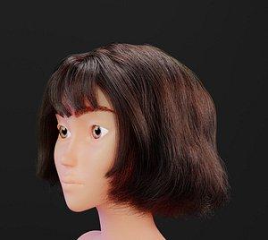 3D haircut hair model