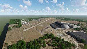 akron fulton international airport 3D