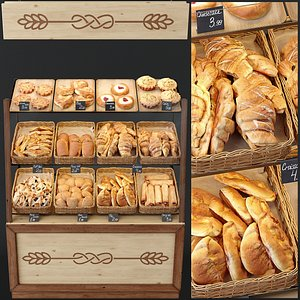 3D Showcase with pastries
