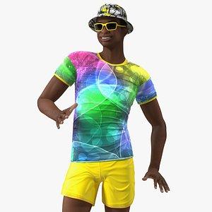 3D Light Skin Teenager Beach Style Rigged model
