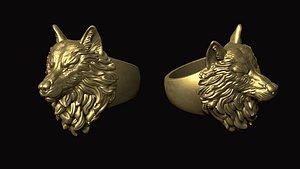 3D head wolf model