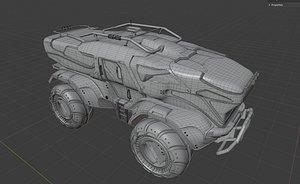 3D sci fi vehicle