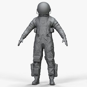 Zbrush Astronaut in Orion Crew Survival System Spacesuit 3D