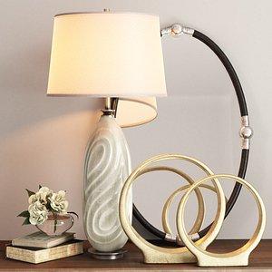 uttermost set griseo table lamp 3D