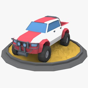 pickup vehicle auto 3D model
