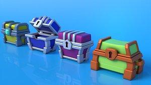 3D chest games model