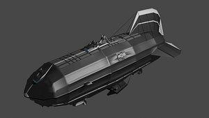 Fat airship 3D