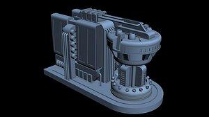 3D scifi starship model