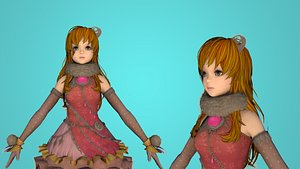 3D girl cartoon toon