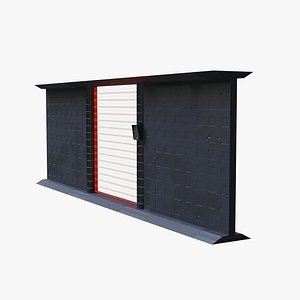 Force Field Door With Fence Sections 3D model