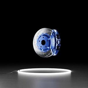 3D Endless 6POT caliper Racing Disc rotor brake system kit 3D model model
