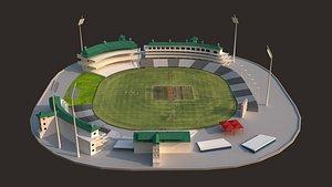 3D NewZealand Cricket Stadium model