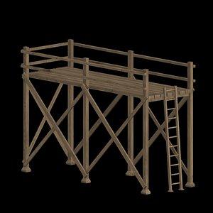 scaffold old 3D model