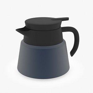 3D modern navy blue  coffee pot