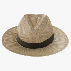 3D Sun Straw Fedora Hat