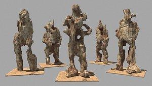 Wood Dolls 3D