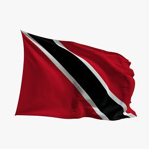 3D Realistic Animated Flag - Microtexture Rigged - Put your own texture - Def Trinidad and Tobago model