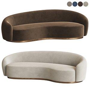 3D austin curved sofa