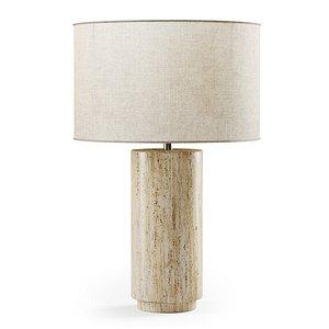 3D night table lamp model