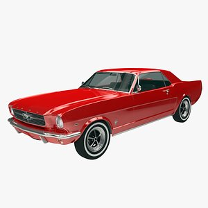 3D Ford Mustang Coupe 1964-66 model