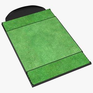 3D practice mat golf model