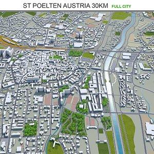 3D St Poelten Austria model