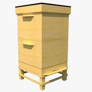 3D bee hive wooden