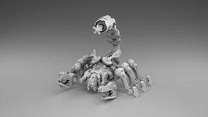 3D model robot scorpio