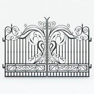 3D model Ornate Decorative Gate 1