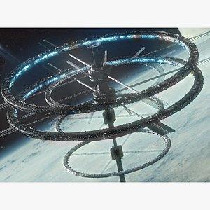 sci fi space 3D