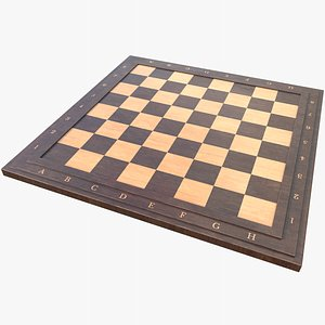 3D Chessboard 1 With PBR 4K 8K