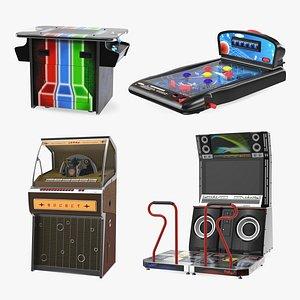 3D Arcade Games Collection 6 model