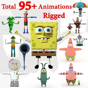 Spongebob Pack 3D model