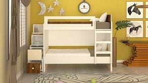 kids room design scene model