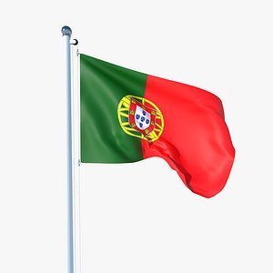 Animated Flag of Portugal 3D