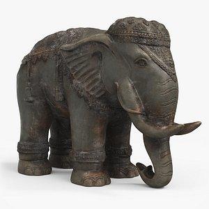 statue elephant 3D model