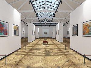 art gallery exhibition 3D model