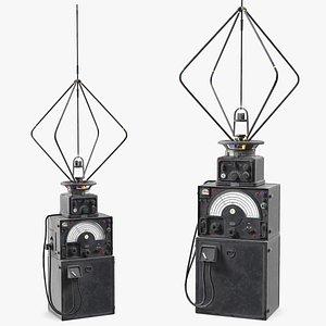 3D model ww2 radio direction finder