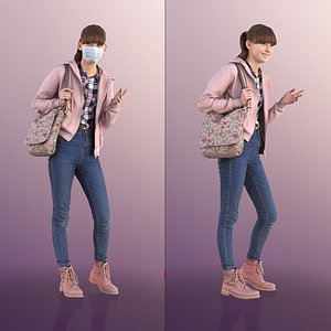 3D girl young mask