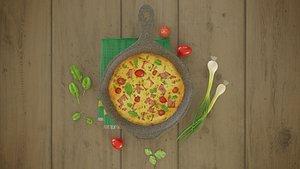 omlet omlette 3D model