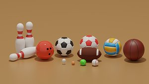 Sport Balls Collection 3D