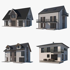 3D house building architecture