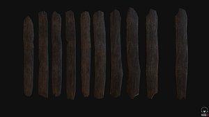 wood plank wooden 3D