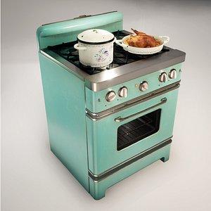 retro cooker 3D