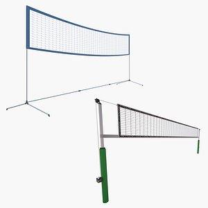 Volleyball Net and Badminton Net 3D model