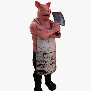 Pig Humanoid 3D model