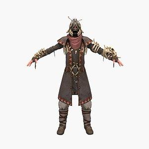 knight woman 3D model