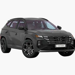 3D Hyundai Tucson N-Line US 2021 Low Interior model